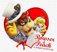 Matrimonio Bowser & Peach Artwork - Super Mario Odyssey