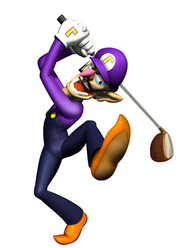 Waluigi Artwork - Mario Golf Toadstool Tour