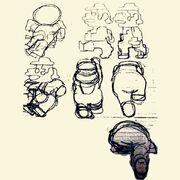 Mario (Jumpman) Concept art - Donkey Kong
