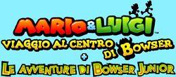 Mario & Luigi Viaggio al Centro di Bowser Le avventure di Bowser Junior - Logo ITA