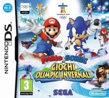 Mario & Sonic ai Giochi Olimpici Invernali DS - Boxart Ita