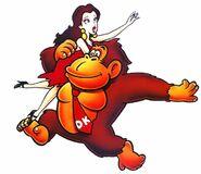 Pauline Donkey Kong Artwork - Donkey Kong (Game Boy)