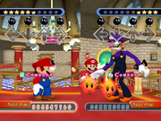 Mario Waluigi (battaglia) Screenshot - Dancing Stage Mario Mix