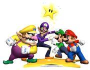 Mario Luigi Wario Waluigi Artwork - Mario Party 4