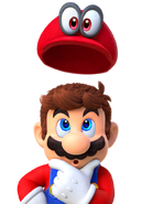 Mario e Cappy Artwork - Super Mario Odyssey