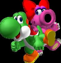Yoshi e Strutzi Artwork Mario Party 7