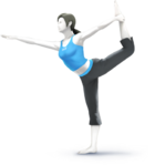 Trainer di Wii Fit Artwork - Super Smash Bros. per Nintendo 3DS e Wii U