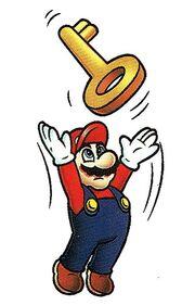 384px-Mario Throwing a Key