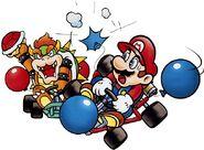Mario e Bowser (Modalità Battaglia) Artwork - SMK