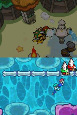 Sacca Vascolare Screenshot - Mario & Luigi Viaggio al Centro di Bowser