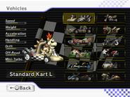 Schermata selezione personaggio Skelobowser Mario Kart Wii