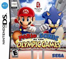 Mario & Sonic ai Giochi Olimpici (DS) - Boxart NA