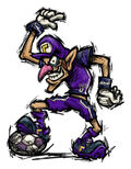 Waluigi Artwork - Mario Smash Football