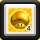 Set 4 Fungo dorato