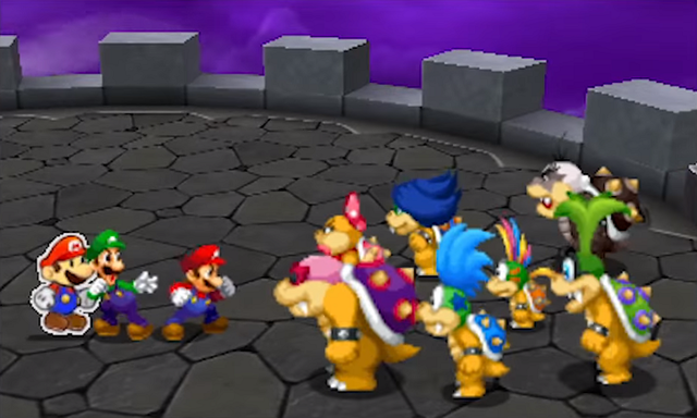 Immagine Bowserotti Screenshot Mario Amp Luigi Paper Jam