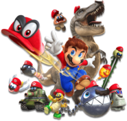 Capture Artwork di gruppo - Super Mario Odyssey