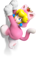Peach Gatto2 - Super Mario 3D World