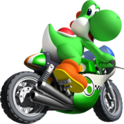 Yoshi Artwork - Mario Kart Wii