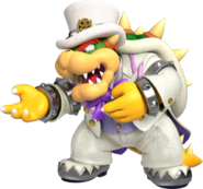 Bowser (abito da matrimonio) Artwork - Super Mario Odyssey
