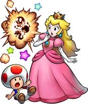 Superstar Saga DX Peach e Toad