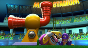 Wario Waluigi Intro Screenshot - Mario Super Sluggers