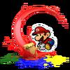 Mario, Martellobaleno Artwork - Paper Mario Color Splash
