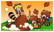 Tanooki Peach and Tanooki Toads