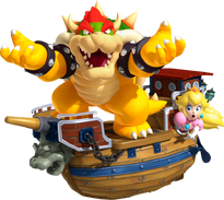 3D Land Bowser Peach Aeronave
