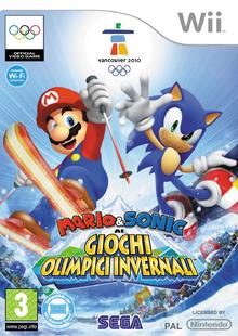 Mario & Sonic ai Giochi Olimpici Invernali Wii - Boxart Ita
