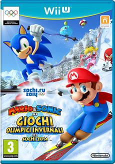 Mario & Sonic ai Giochi Olimpici Invernali di Sochi 2014 - Boxart Ita