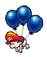 Baby Mario (palloncini) Artwork - Super Mario World 2 Yoshi's Island