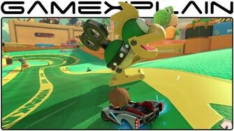 Mario Kart 8 200cc DLC Ribbon Road GBA Gameplay (60fps - Full Race)