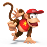 Diddy Kong Artwork - Super Smash Bros. per Nintendo 3DS e Wii U