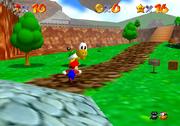 Koopa il Veloce, Battaglia di Bob-ombe Screenshot - Super Mario 64