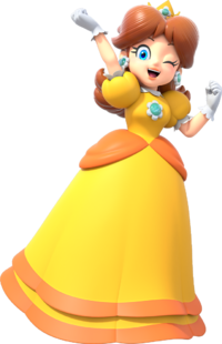 Daisy Artwork - Super Mario Party