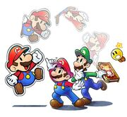 Mario & Luigi Paper Jam Bros. Key Artwork