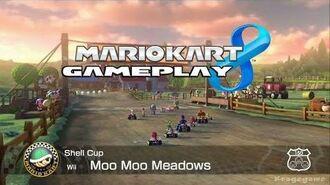 Mario Kart 8 - Moo Moo Meadows - Shell Cup - Baby Rosalina Gameplay - HD -