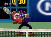 Waluigi Screenshot - Mario Tennis (Nintendo 64)