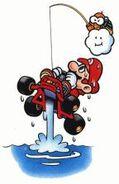 Mario e Lakitu (salvataggio) Artwork - SMK
