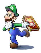 Luigi Artwork - M&L Paper Jam Bros.