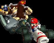 MKDS DK VS Mario