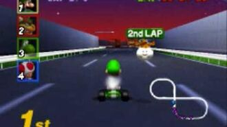 Mario Kart 64- Flower Cup - Toad's Turnpike