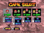 Game Select Mario Kart 64
