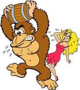 Pauline Donkey Kong1 Artwork - Donkey Kong