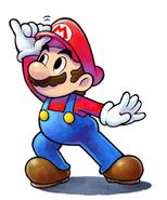 Mario Artwork - M&L Paper Jam Bros.
