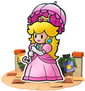 Peach Artwork Paper Mario Color Splash