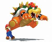 Mario e Bowser Artwor - Super Mario 64