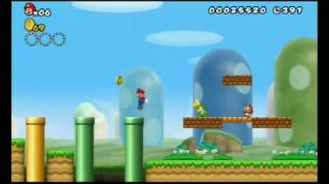 New Super Mario Bros. Wii - first playthrough - World 1, Level 1