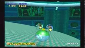 Super Monkey Ball 2 - MX7 32320 in the Blue Goal