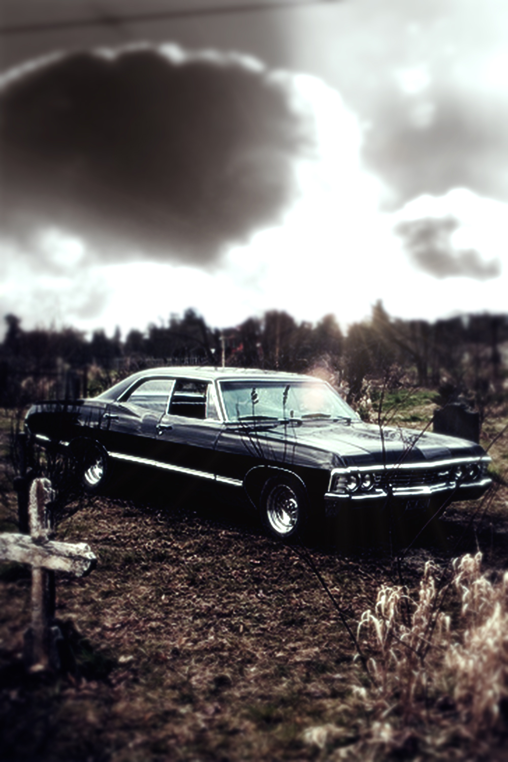 Supernatural 67 Chevy Impala Iphone Wallpaper By Xerix93 D62cvdj
